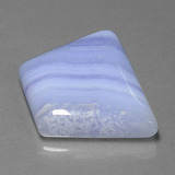 48.95 ct Trapezoid Cabochon Lavender Agate Gem 31.17 mm x 24.4 mm (Photo B)