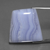 thumb image of 42ct Trapezoid Cabochon Lavender Agate (ID: 433280)