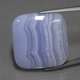 thumb image of 47.8ct Cushion Cabochon Lavender Agate (ID: 433282)