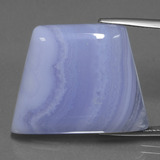 thumb image of 39.7ct Trapezoid Cabochon Lavender Agate (ID: 433299)
