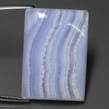 thumb image of 45.4ct Baguette Cabochon Lavender Agate (ID: 433432)
