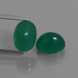 thumb image of 4.5ct Oval Cabochon Green Agate (ID: 436865)