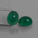 thumb image of 3.8ct Oval Cabochon Green Agate (ID: 436867)
