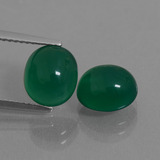 thumb image of 5.2ct Oval Cabochon Green Agate (ID: 436868)