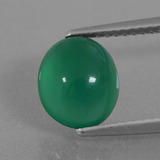 thumb image of 2.6ct Oval Cabochon Green Agate (ID: 437006)