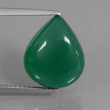 thumb image of 7.1ct Pear Cabochon Green Agate (ID: 437042)