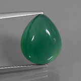 thumb image of 6.4ct Pear Cabochon Green Agate (ID: 437045)