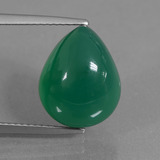 thumb image of 7.3ct Pear Cabochon Green Agate (ID: 437046)