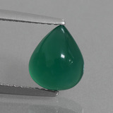 thumb image of 2.1ct Pear Cabochon Green Agate (ID: 437224)