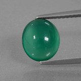 thumb image of 2.1ct Oval Cabochon Green Agate (ID: 437262)