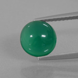 thumb image of 2ct Round Cabochon Green Agate (ID: 437265)
