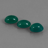 thumb image of 5.3ct Oval Cabochon Green Agate (ID: 437402)