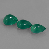 thumb image of 6.3ct Pear Cabochon Green Agate (ID: 437403)