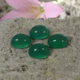 thumb image of 9ct Oval Cabochon Green Agate (ID: 437510)