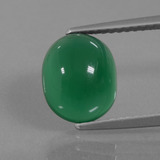 thumb image of 3ct Oval Cabochon Green Agate (ID: 437551)