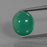 thumb image of 2.9ct Oval Cabochon Green Agate (ID: 437552)