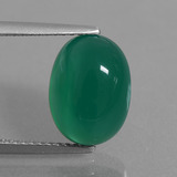 thumb image of 5ct Oval Cabochon Green Agate (ID: 437663)