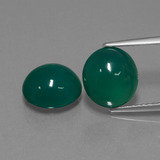 thumb image of 6.2ct Oval Cabochon Green Agate (ID: 443530)
