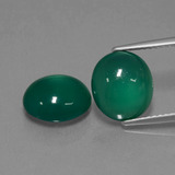 thumb image of 6.4ct Oval Cabochon Green Agate (ID: 443532)