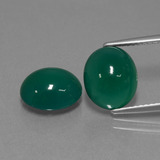 thumb image of 6.3ct Oval Cabochon Green Agate (ID: 443599)