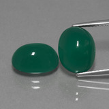 thumb image of 7.5ct Oval Cabochon Green Agate (ID: 443652)