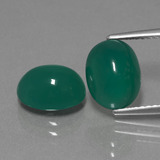thumb image of 4.5ct Oval Cabochon Green Agate (ID: 443653)