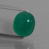 thumb image of 3.5ct Oval Cabochon Green Agate (ID: 443667)