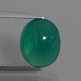thumb image of 3.1ct Oval Cabochon Green Agate (ID: 443668)