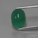 thumb image of 3.1ct Oval Cabochon Green Agate (ID: 443702)