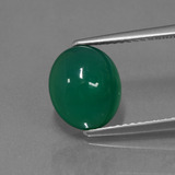 thumb image of 3ct Oval Cabochon Green Agate (ID: 443749)