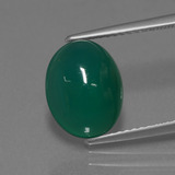 thumb image of 3.8ct Oval Cabochon Green Agate (ID: 443820)