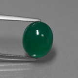 thumb image of 3.3ct Oval Cabochon Green Agate (ID: 443865)