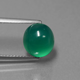 thumb image of 3.5ct Oval Cabochon Green Agate (ID: 443869)