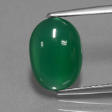 thumb image of 2.5ct Oval Cabochon Green Agate (ID: 443963)