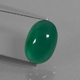 thumb image of 2.8ct Oval Cabochon Green Agate (ID: 444006)