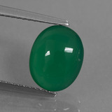 thumb image of 2.1ct Oval Cabochon Green Agate (ID: 444008)