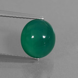 thumb image of 3.7ct Oval Cabochon Green Agate (ID: 444036)