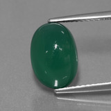 thumb image of 4.5ct Oval Cabochon Green Agate (ID: 444056)