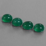 thumb image of 12.5ct Oval Cabochon Green Agate (ID: 444067)
