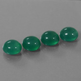 thumb image of 12.2ct Oval Cabochon Green Agate (ID: 444070)