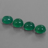 thumb image of 12.6ct Oval Cabochon Green Agate (ID: 444071)