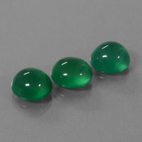 thumb image of 8.9ct Oval Cabochon Green Agate (ID: 444073)