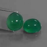 thumb image of 6.4ct Oval Cabochon Green Agate (ID: 444075)