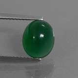 thumb image of 3ct Oval Cabochon Green Agate (ID: 444078)