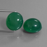 thumb image of 15.8ct Oval Cabochon Green Agate (ID: 445072)