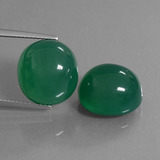 thumb image of 19ct Oval Cabochon Green Agate (ID: 445078)
