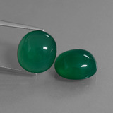thumb image of 16.4ct Oval Cabochon Green Agate (ID: 445095)