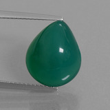 thumb image of 8ct Pear Cabochon Green Agate (ID: 445175)