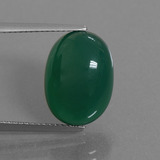 thumb image of 8.8ct Oval Cabochon Green Agate (ID: 445253)
