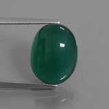 thumb image of 8.5ct Oval Cabochon Green Agate (ID: 445258)